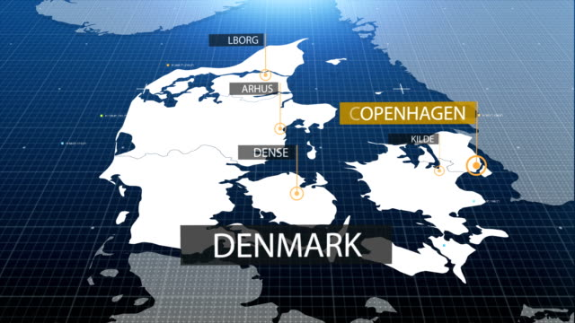 Denmark map with label then with out label video