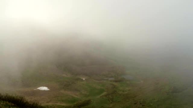 Dense Fog Absorbs Another Green Mountain Valley video