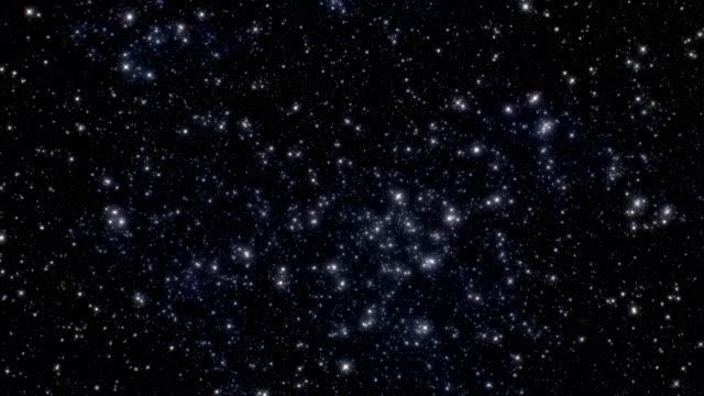 vidéos et rushes de starfield dense - 4 k 60 images par seconde élevé de détail espace voyage arrière-plans vidéo boucle - ciel etoile
