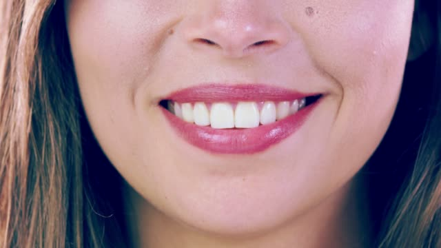 dental white smile - perfezione video stock e b–roll