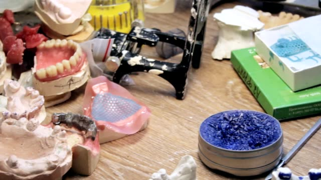 Dentist's working table, working disorder video