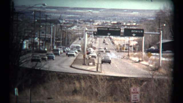 (1960's 8mm Vintage) Denver Boulder Highway Driving Tour video