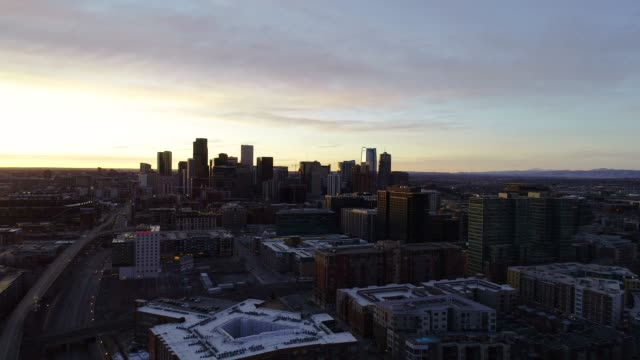 Denver, Colorado, USA Drone Skyline Aerial