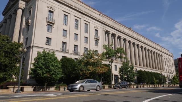 Department of Justice Building Establishing Shot video