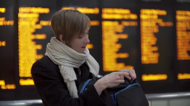 Departure board standing video