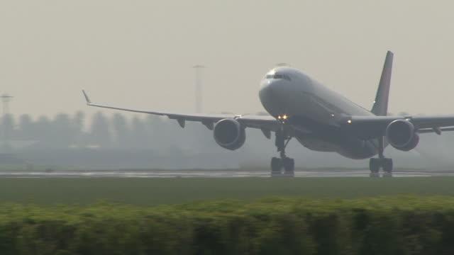 departure of airplane from runway