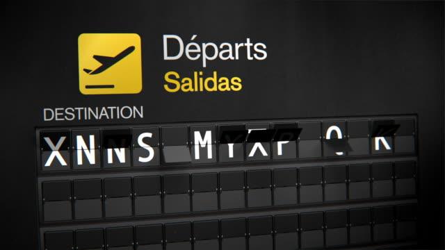 departures flip sign: european cities set two - munich train station bildbanksvideor och videomaterial från bakom kulisserna