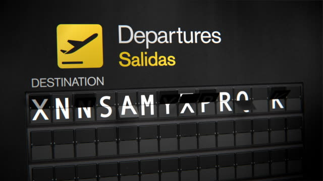 departures flip sign: south american cities - south america travel stock videos and b-roll footage