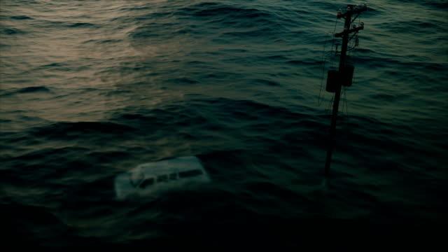 洪水、ハリケーン後の描写です。 - ダメージ点の映像素材/bロール