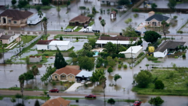 depiction of flooding after a hurricane. - clima video stock e b–roll