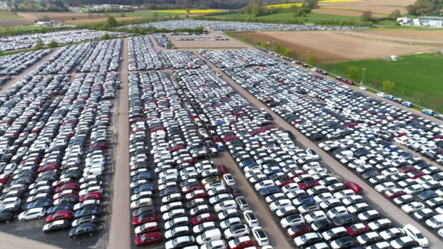 Depot Of New Cars Ready To Be Distributed video