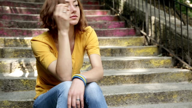 Depressed teen girl video