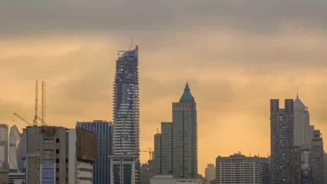 TL: Depression city under cloudy rain season in morning video