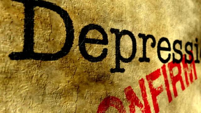 vídeos de stock, filmes e b-roll de depressão confirmar o conceito - validação