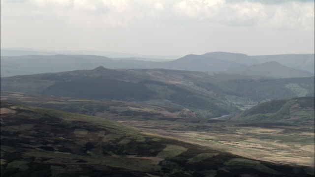 Derwent Moors And Wheel Stones  - Aerial View - England, Derbyshire, High Peak District, United Kingdom video