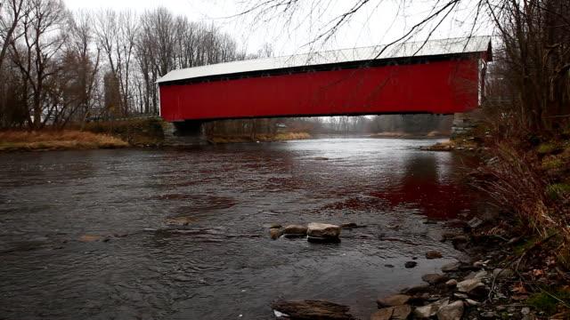 Des Rivieres Covered Bridge in Quebec, Canada