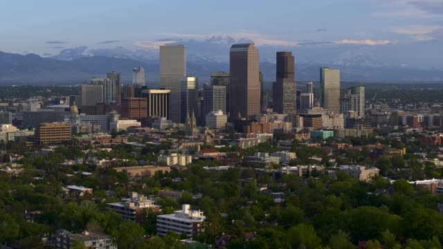 Descending view of downtown Denver