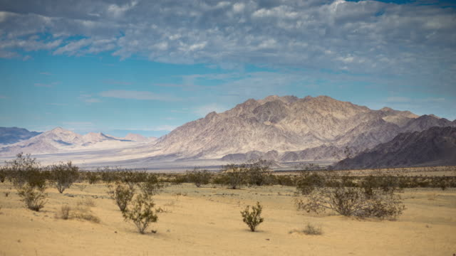 Desert and Mountains - Time Lapse the rugged landscape of Sheephole Valley Wilderness in the Mojave Desert, near Twentynine Palms in Southern California. mojave desert stock videos & royalty-free footage