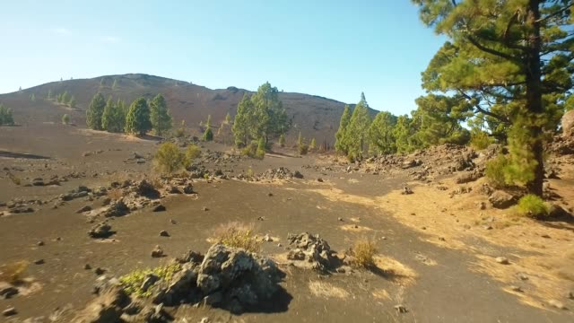 Desert area in the vicinity of the volcano video