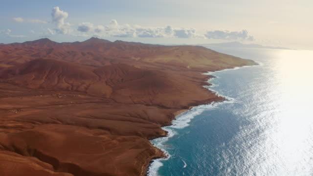 Desert coastline. Aerial view