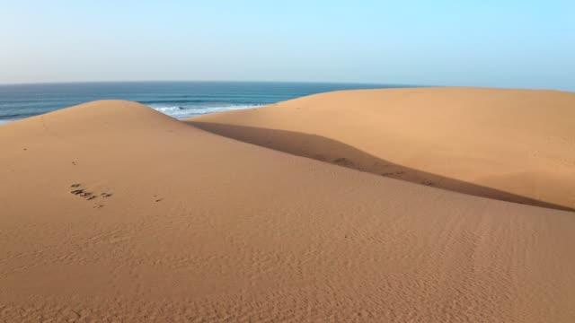 öken kusten på gran canaria. utsikt från luften - spain solar bildbanksvideor och videomaterial från bakom kulisserna