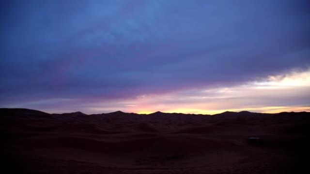Desert during sunset
