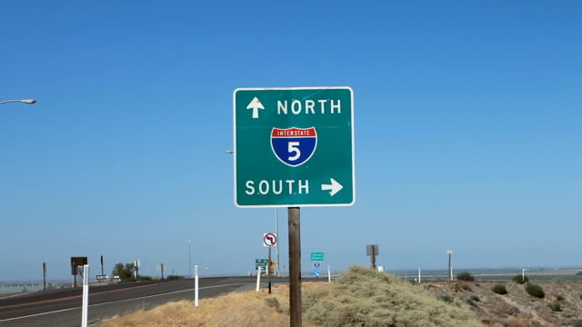 Desert Highway Direction Sign HD video
