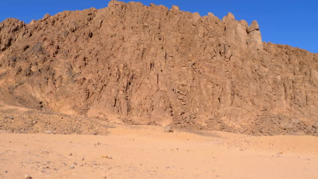 Desert in Egypt. Panoramic view of the Desert with Mountains and Rocks in Egypt