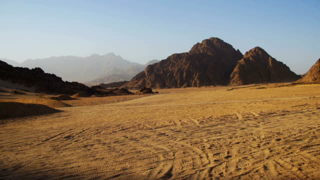 Desert in Egypt, Sand and Mountains, Panoramic View video