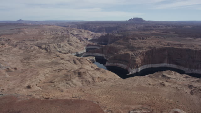 Desert river/arm of Lake Powell in Arizona and Utah video