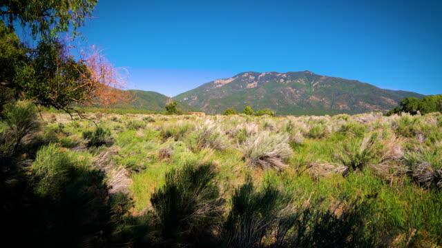 desert southwest northern new mexico at taos - скалистые горы стоковые видео и кадры b-roll