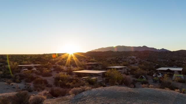 Desert Sunrise in Joshua Tree National Park, California video