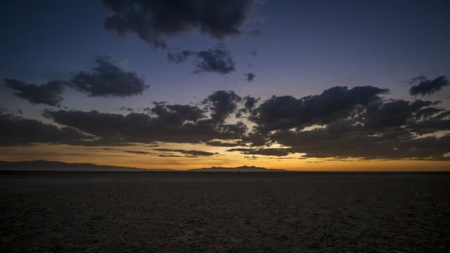 Desert Time Lapse at Sunset With Clouds