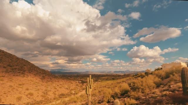 vídeos de stock e filmes b-roll de desert timelapse fountain hills, arizona,usa 4k - fenómeno natural