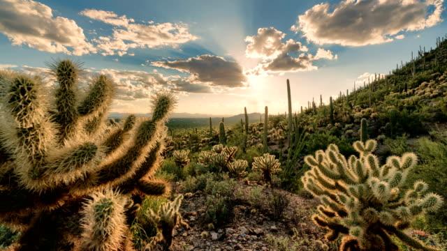 Desert Valley Sunset Timelapse/Hyperlapse - Sliding Motion
