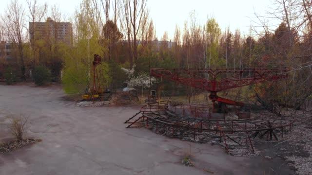 都市プリピャチの無人遊園地 - 全壊点の映像素材/bロール