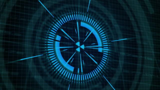 design HUD elements for technology background video