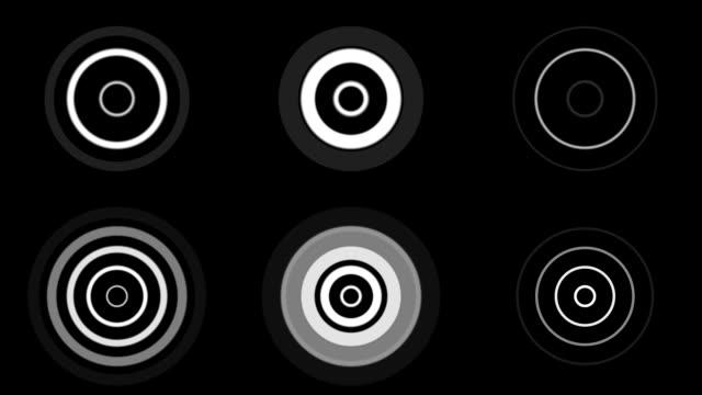 デザインセット: オブジェクト::ラジオウェイブズ 1 - 音波点の映像素材/bロール