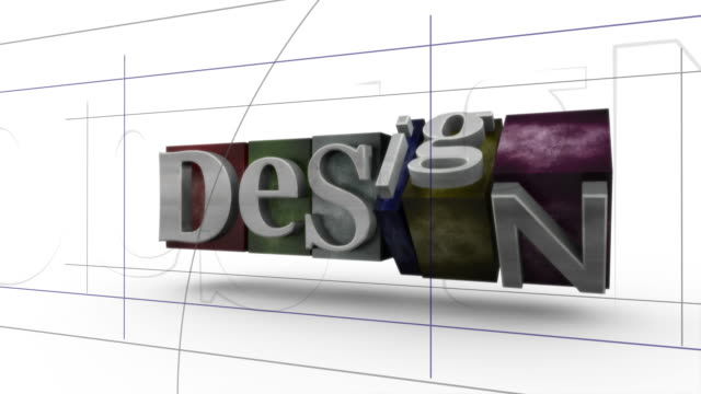 Desing Word Letterpress 3D Animation video