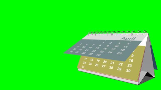 Desk calendar - keyable video