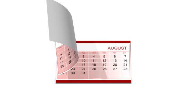 Desk calendar with alpha channel included video