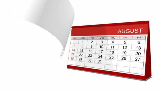 Desk calendar with alpha channel included