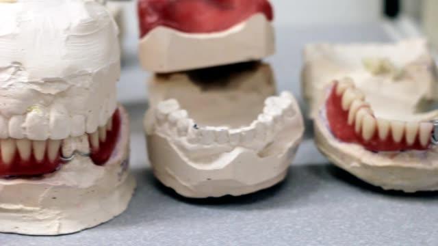Desk dental prosthetist, dentures, dental jaw video