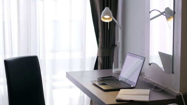 Desk for working , laptop , notbook , Mobile Phone for working at home video