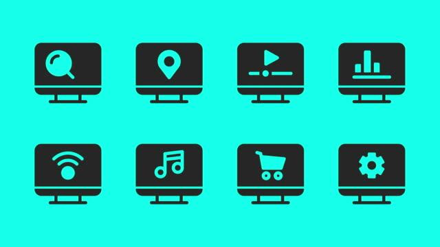 Desktop Icons - Vector Animate