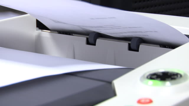 Desktop laser printer detail video