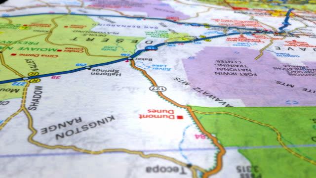 stockvideo's en b-roll-footage met destination los angeles hd - roadmap