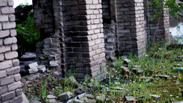 destroyed house war in Ukraine video