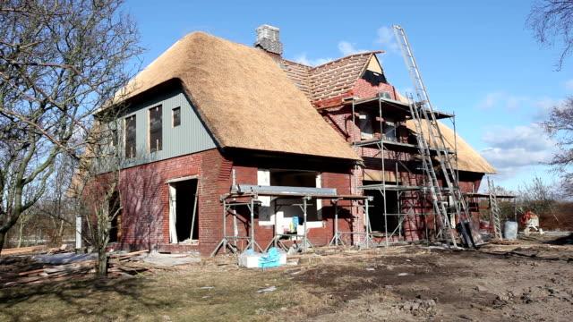 Detached house - construction site video