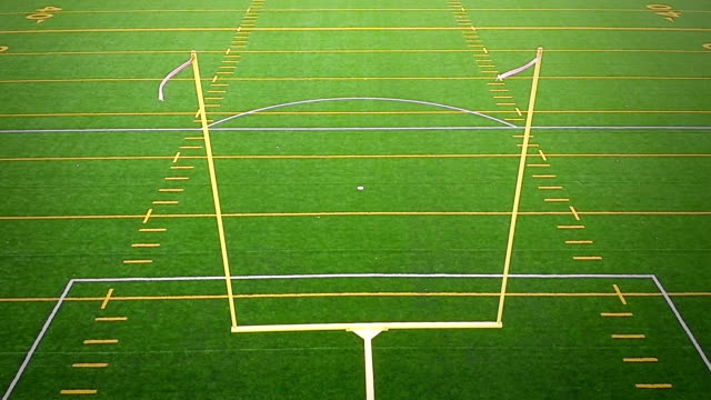 Detail of American Football Field Goal Post Detail of American Football Field Goal Post goal post stock videos & royalty-free footage